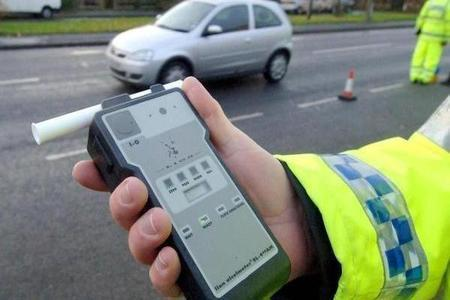 A roadside breath-test