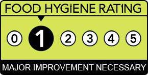 £1,000 fine for not displaying low Food Hygiene Rating