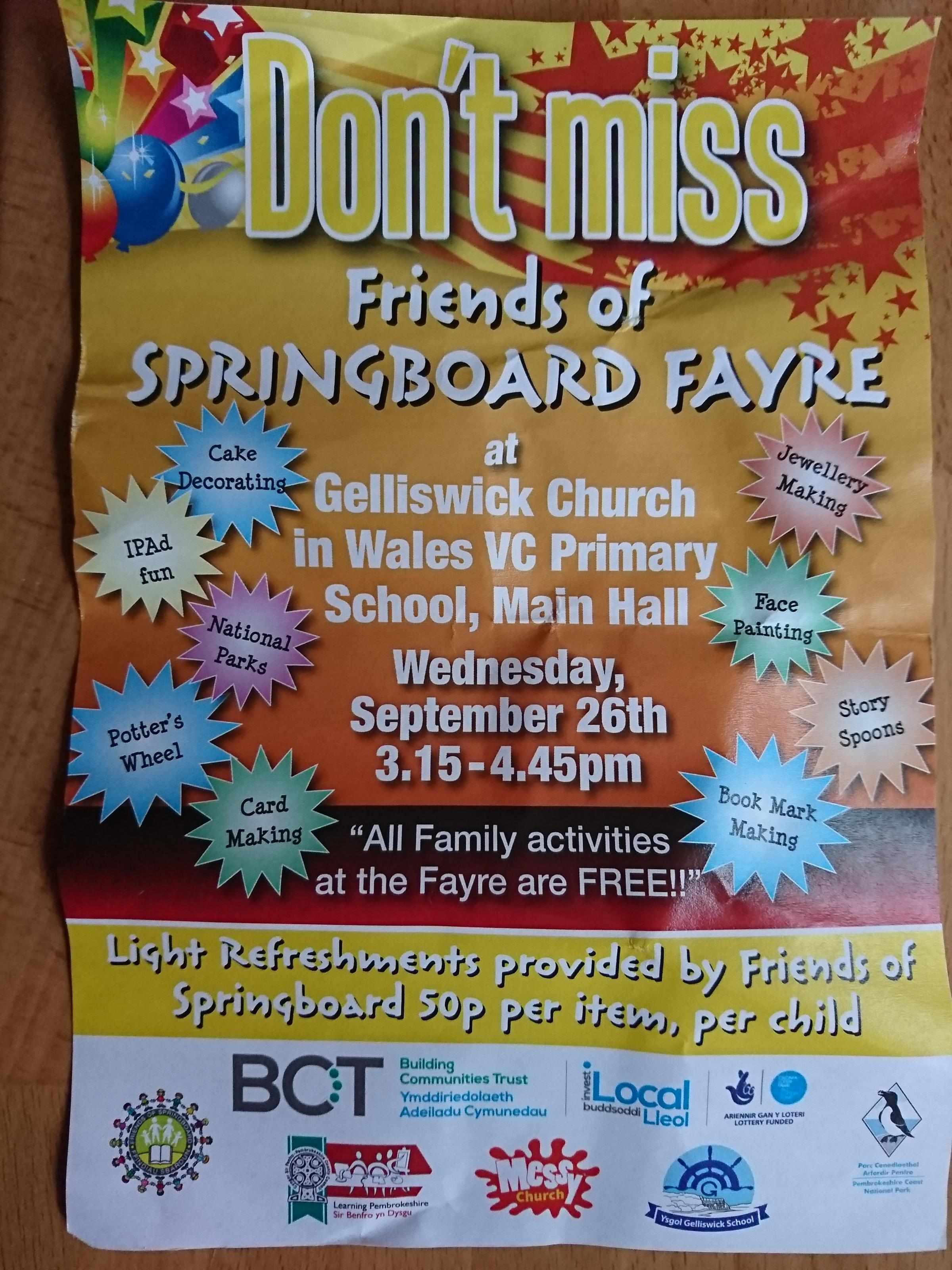 Friends of Springboard fayre
