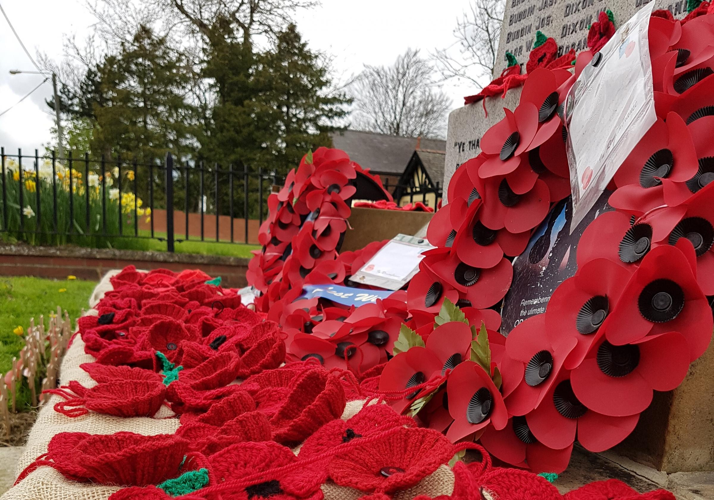 Locals hope to collect 2,000 poppies to mark the centenary in November. STOCK PHOTO