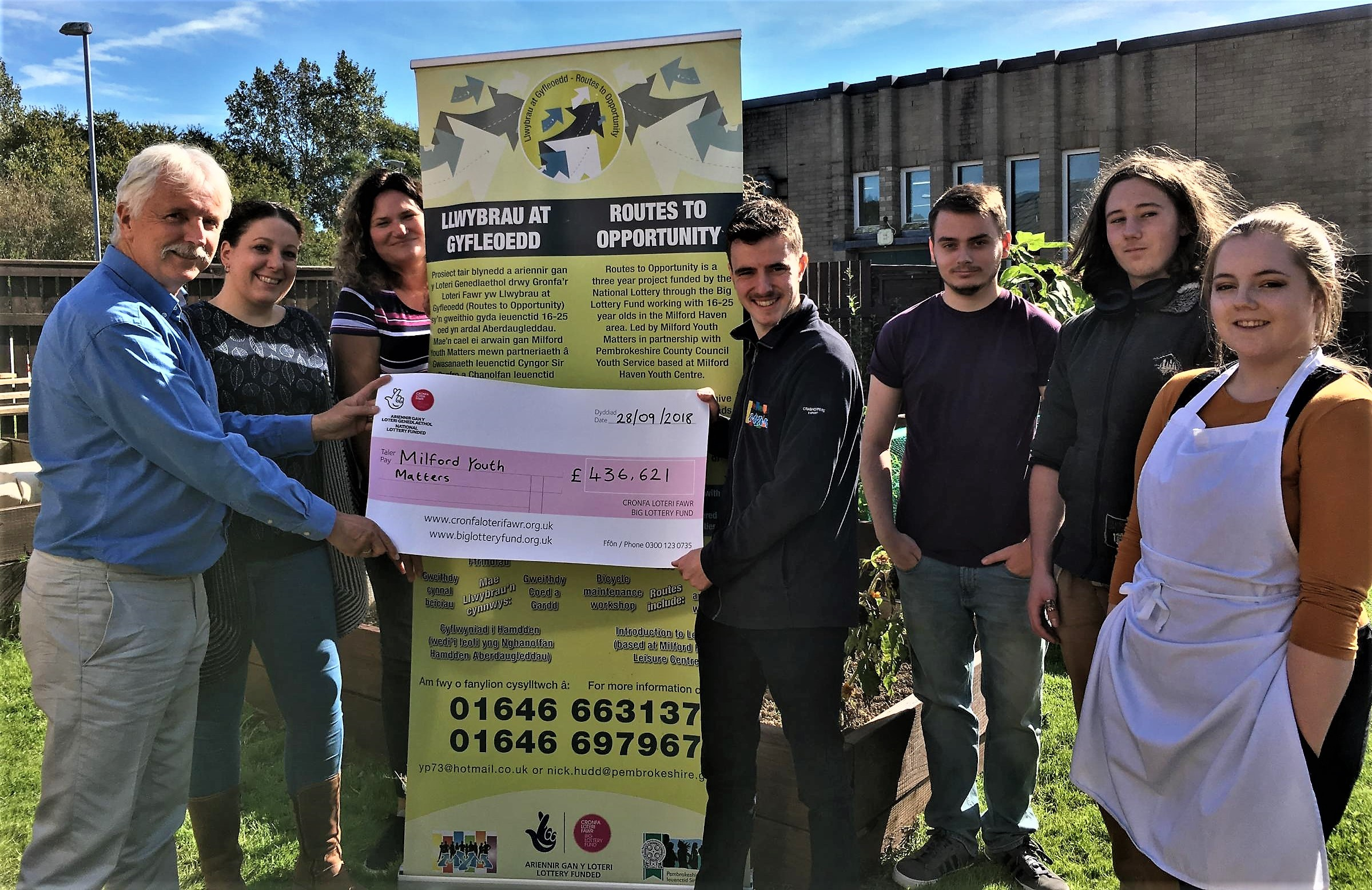 Milford Youth Matters has received more than £400,000 in Big Lottery funding.
