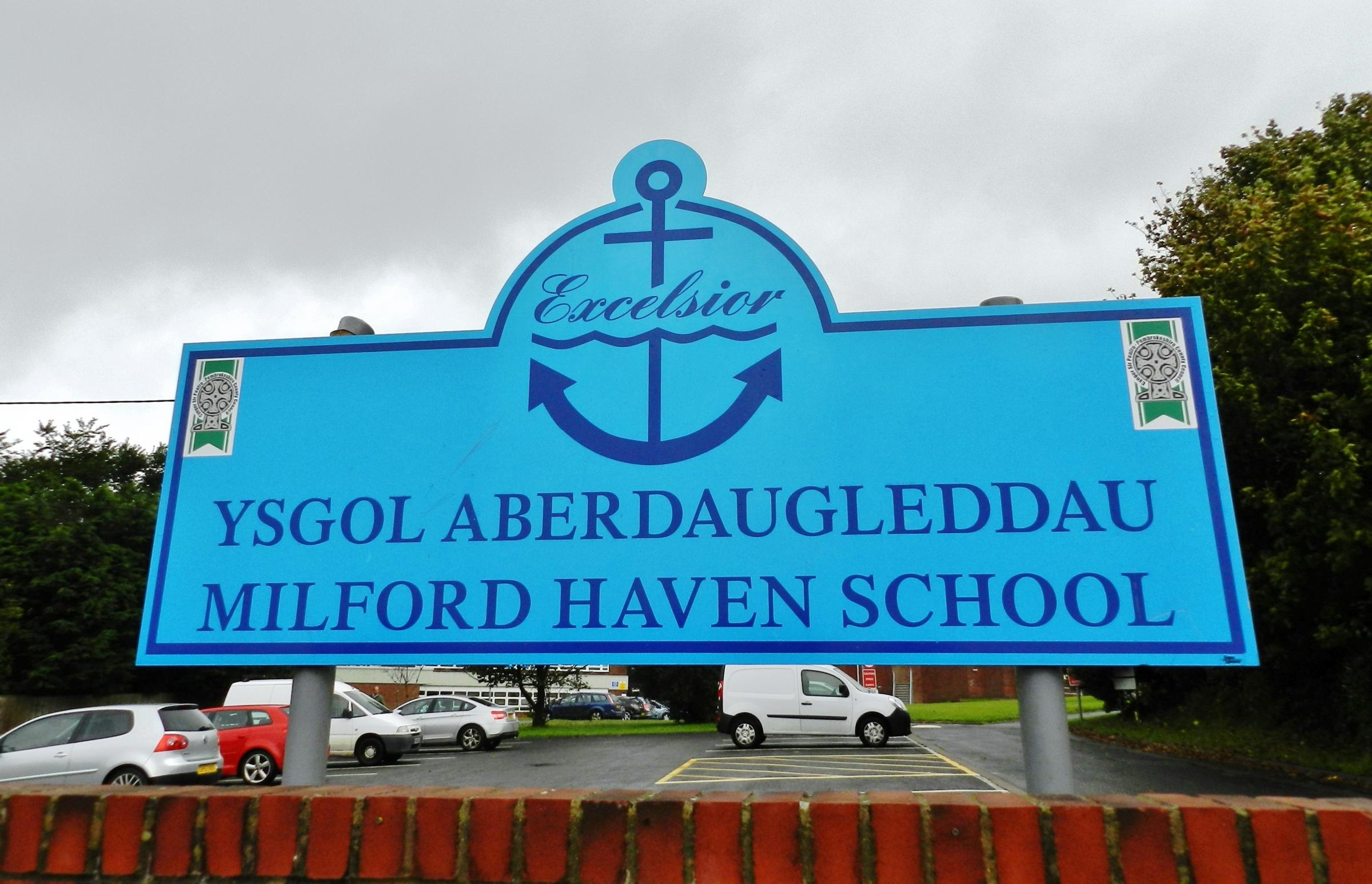Milford Haven School's catchment areas are set to be widened if school reorganisation plans go ahead...PICTURE: Milford Mercury.