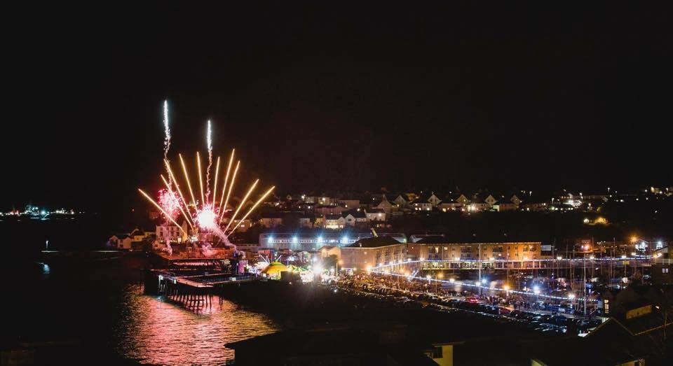 Enjoy an explosive display of fireworks in Milford Haven on November 5.