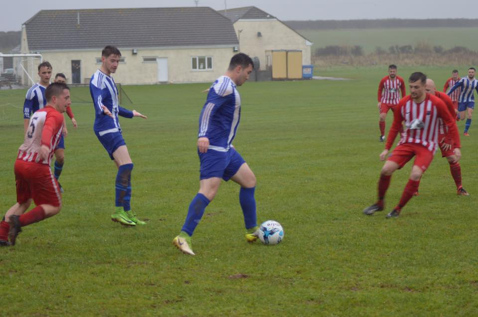 Connor Daines in possession for Tish against Plough Colts. PICTURE: Paul Morgan.