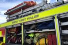 Mid and West Wales Fire and Rescue joined paramedics in Milford Haven. FILE PHOTO
