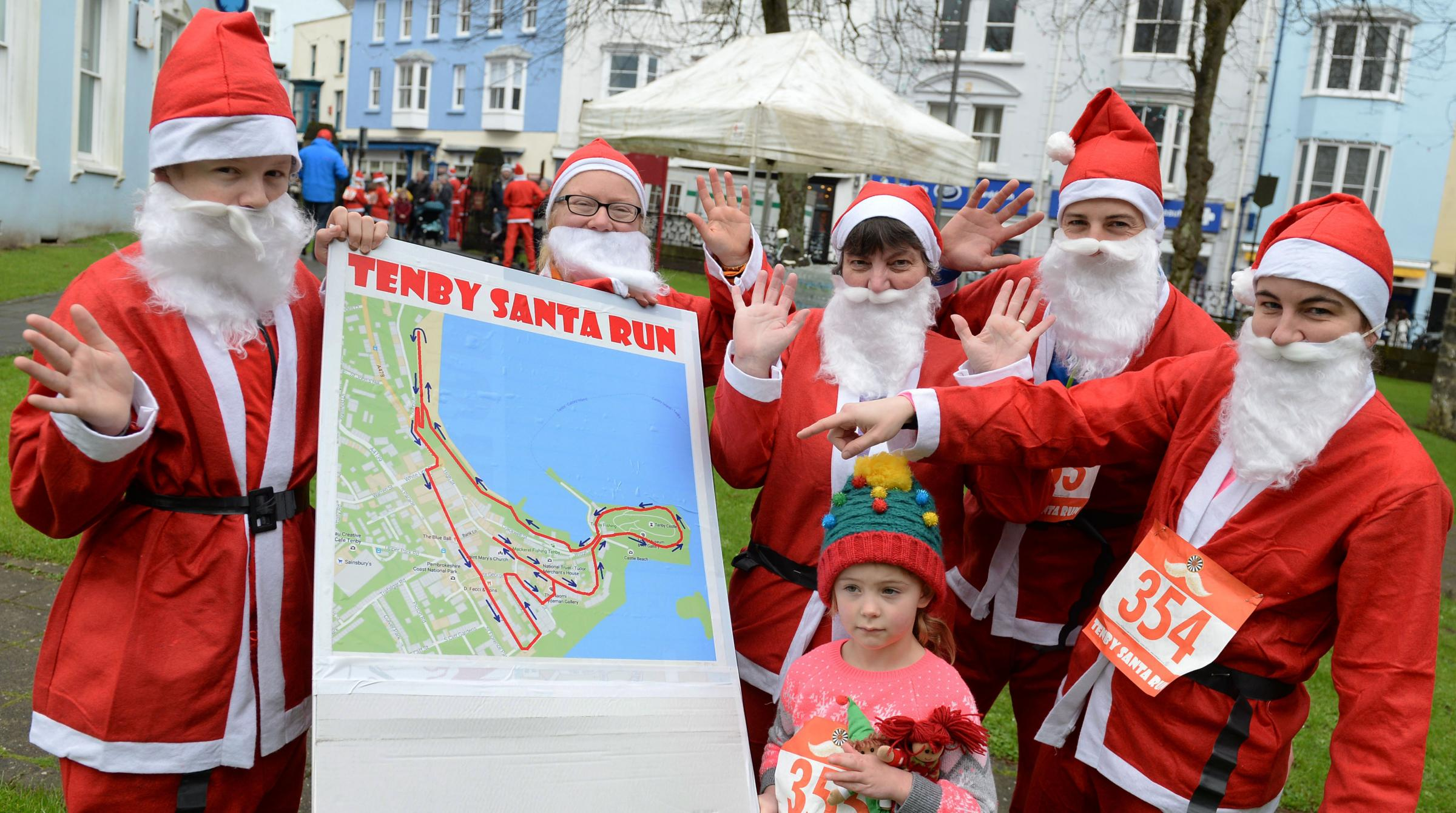Get 'reddy' for Sunday's Tenby Santa Run! PICTURE: Gareth Davies Photography.