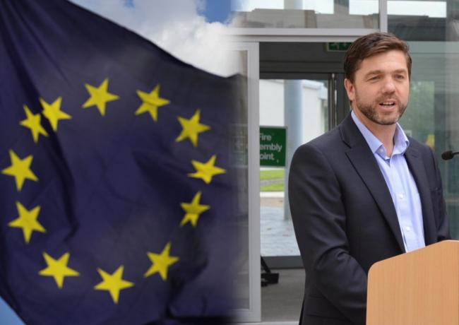 Stephen Crabb MP has said he would not support a second referendum. EU Flag picture by: Daniel Leal-Olivas/PA Wire.