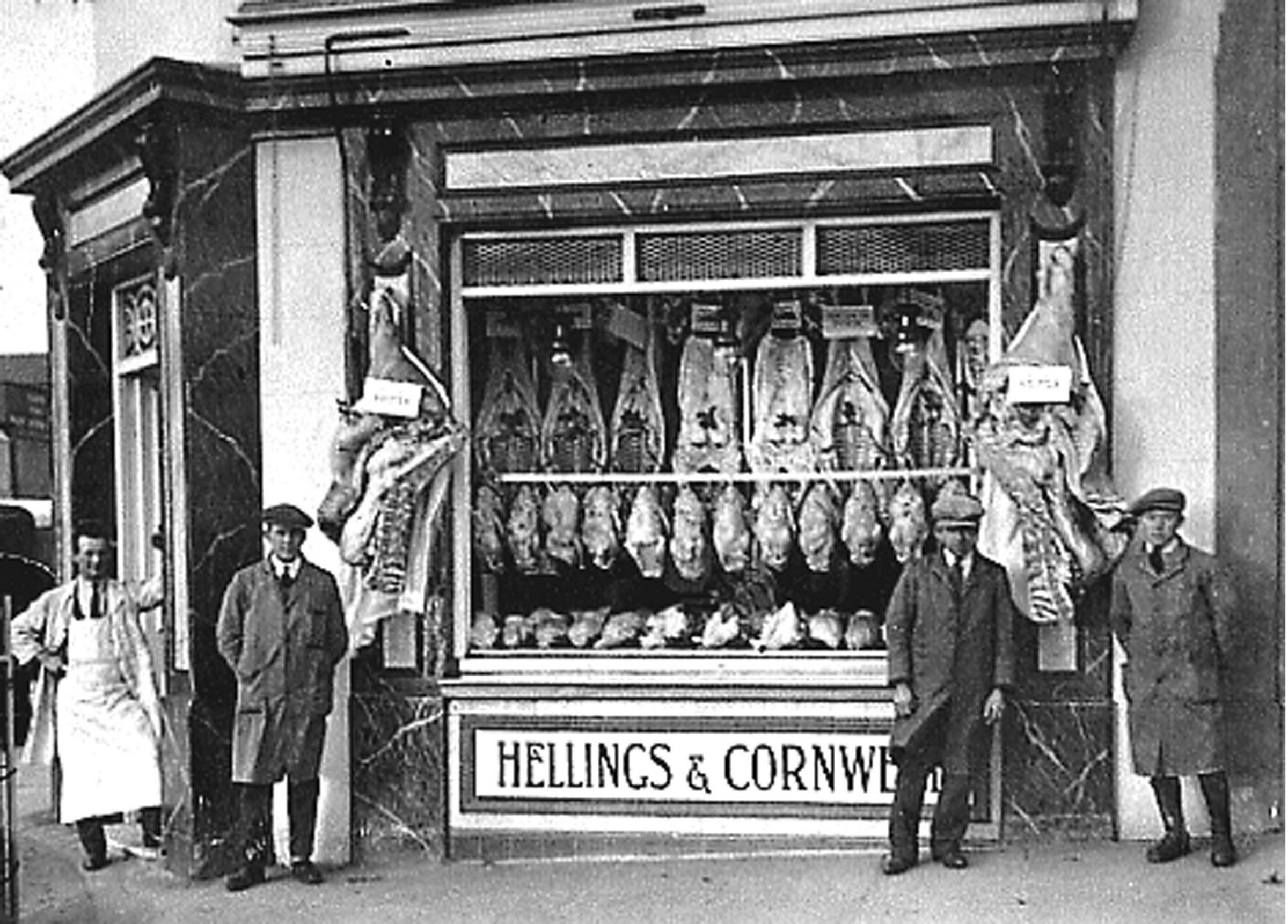 Hellings and Cornwall butchers.