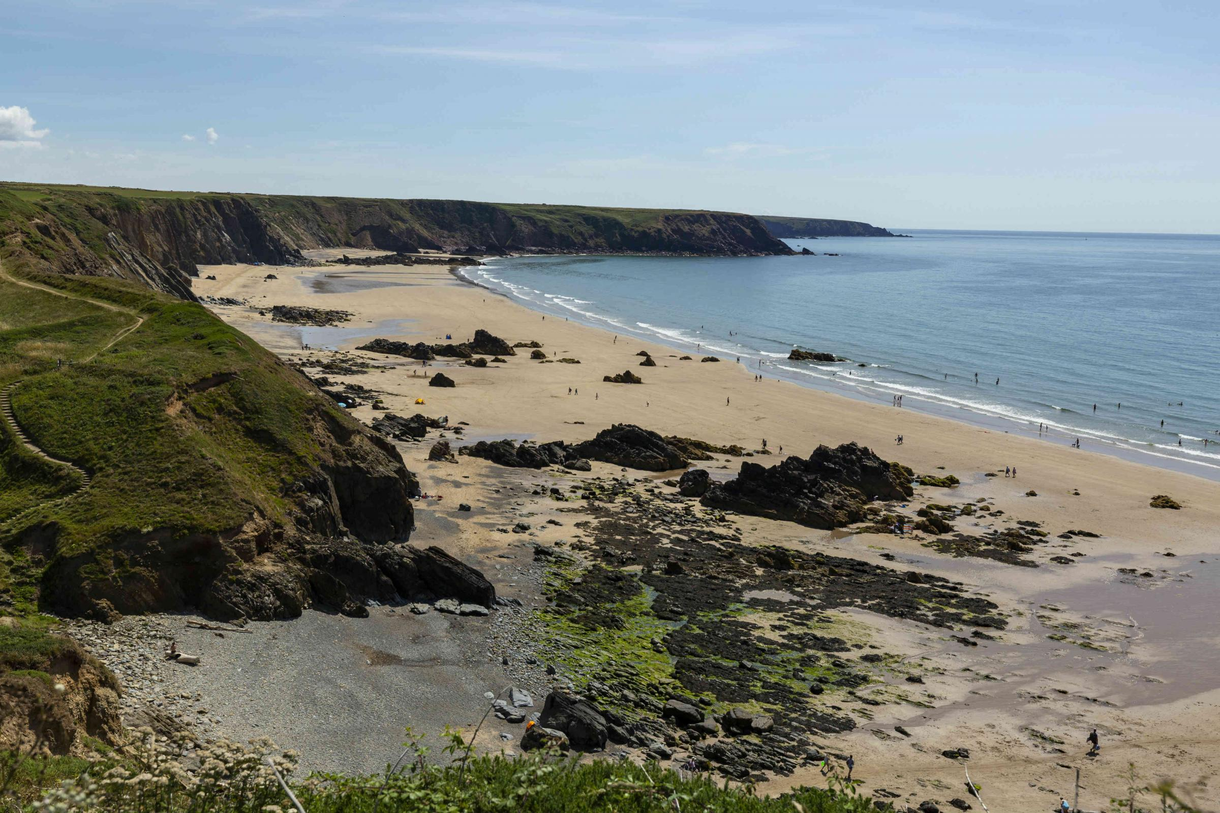 A £120,000 boost to improve tourism facilities at Marloes Sands will be the focus of a new National Trust project over the next two years.PICTURE: Chris Lacey.