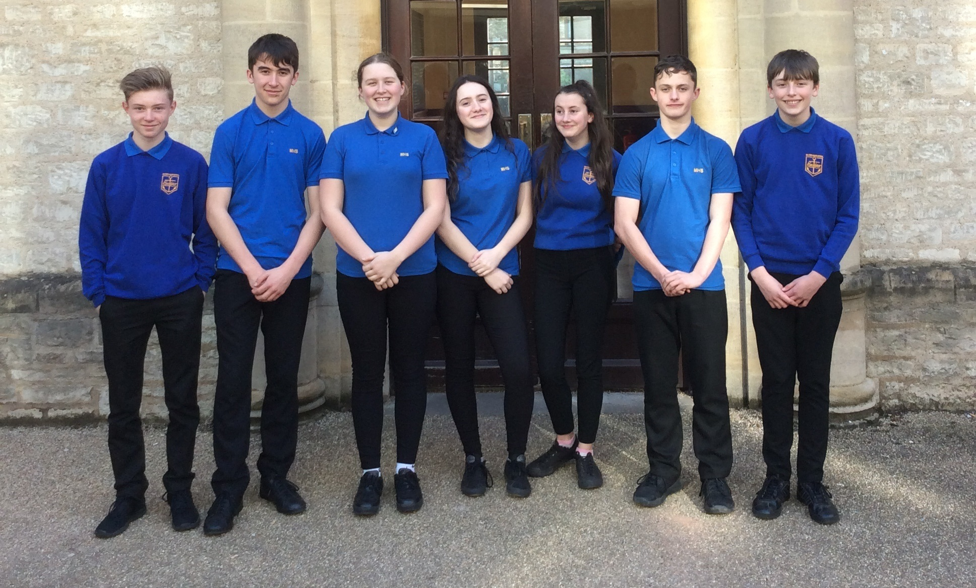 Milford Haven pupils at Oxford University.
