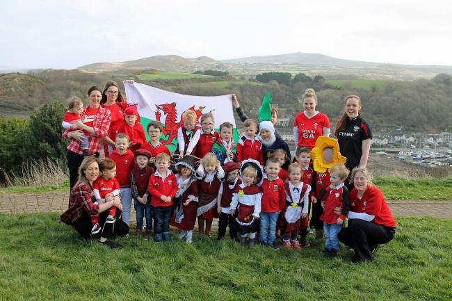 Playdays Childcare Nursery In Fishguard celebrating St David's Day