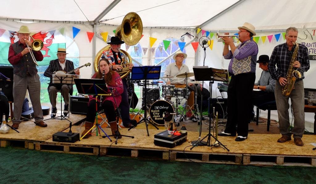 The Saints City Jazz Band will play at St Jerome's Church, Llangwm, this weekend.
