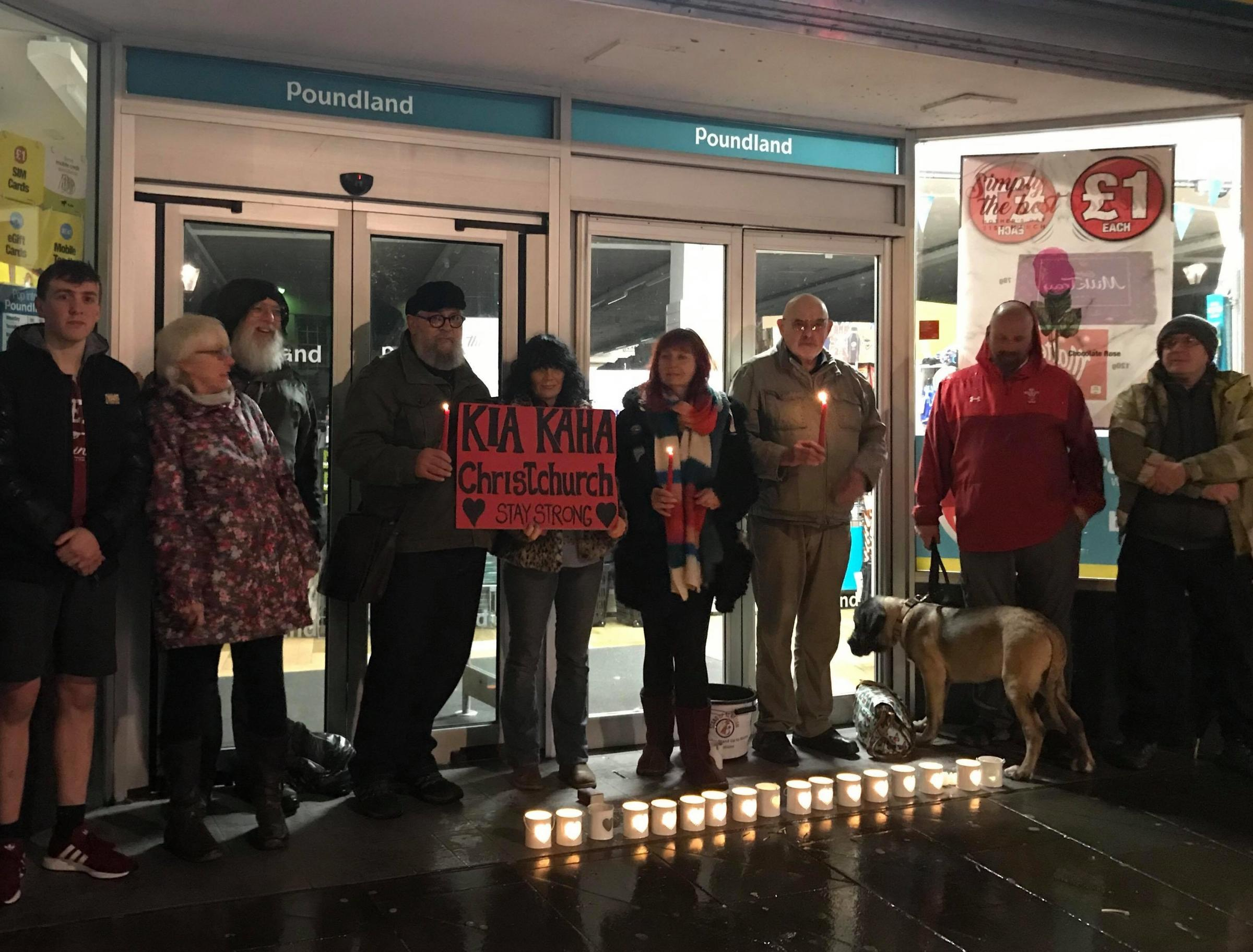 A vigil was held in Haverfordwest after the Christchurch attacks.