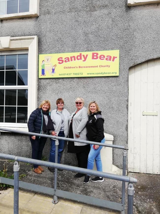 The Sandy Bear team outside the cahrity's new home in Milford Haven. PICTURE: Sandy Bear Children's Bereavement Charity