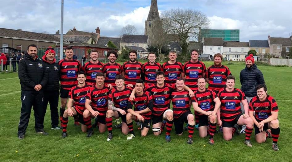 The Tenby team before a great win in Kidwelly.
