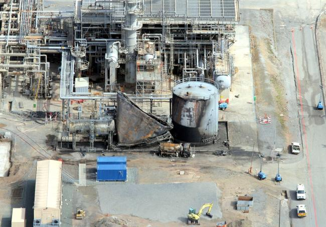 The scene of the explosion at the then Chevron refinery, where four workers were killed. PICTURE: Athena Picture Agency. (6750181).