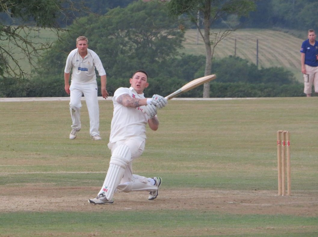 Jake Griffiths hit a half century for Pembroke Dock.