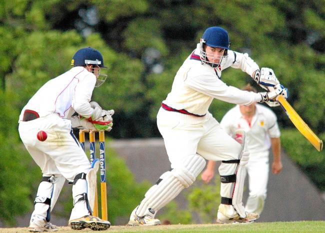Jonathan Thomas guided Whitland to a seven wicket win.