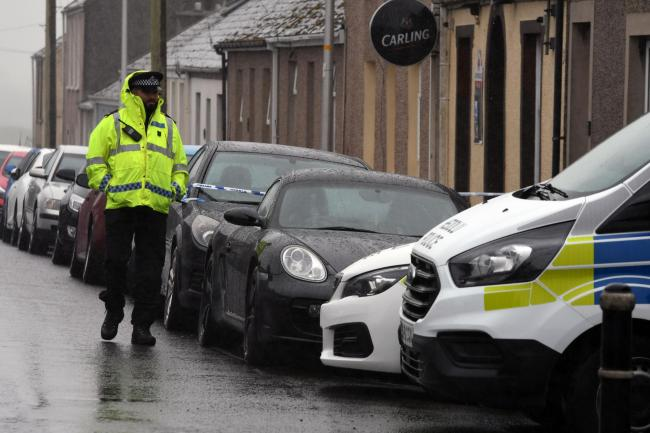 Police at the scene in Pennar.