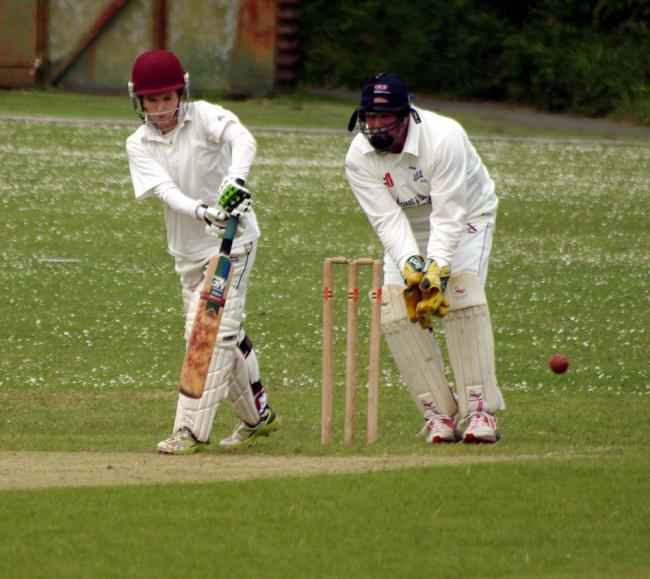 Johnston's Emma Summons fends one to the leg side. PICTURE: Western Telegraph.