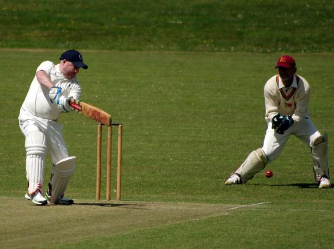 Chris Fitzpatrick cuts to the boundary. PICTURE: Western Telegraph.