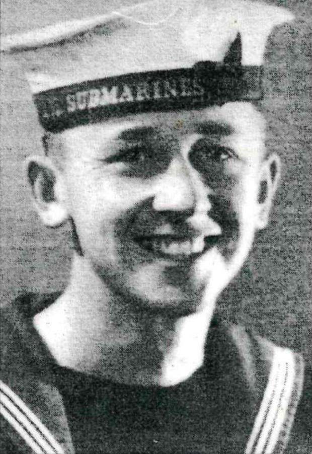 Milford Mercury: Allen Thomas in his naval uniform during the second world war.